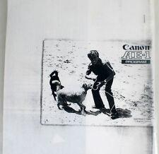 CANON AE-1 PROGRAM  MANUAL, XEROX COPY
