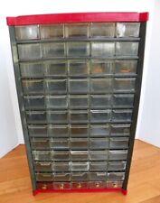 Vintage 60 Drawer Tool Nutbolt Small Parts Metal Storage Organizer