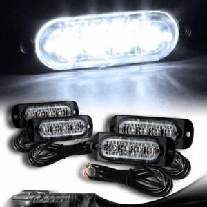 4X Super Bright LED White Emergency Flash Warn Beacon Strobe Light Universal 1