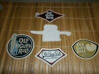 5 OLD GUYS RULE SURF SURFING SURFBOARDS SURFBOARD LONGBOARD FIN BEACH STICKER