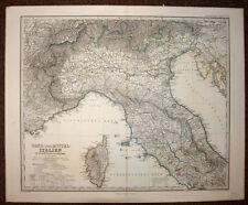 L'ITALIE ITALIA DU NORD, LA CORSE carte geographique ancienne 1875