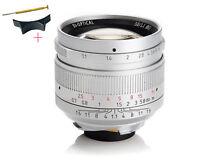 7artisans 50mm f1.1 Manual Lens for Leica M Mount M-M M3 M6 M7 M8 M9p M10 Silver