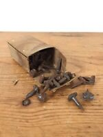 Vintage Shelton Tack Co Hand Forged Wrought Iron Grooved Head 4/8 Inch Hob Nails