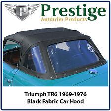 Triumph TR6 Car Hood Hoods Top Tops Roof Black Fabric 1969-1976
