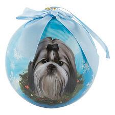 Shih Tzu Dog Collection Holiday Christmas Ball Ornament Dogs Animals Artlist