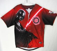 South Bend Cubs Authentic STAR WARS Night Jersey Size 46 XL MiLB Darth Vader