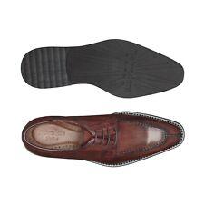 Belvedere Men's Shoes Samuel Ostrich and Calf Split Toe Antique Wine Safari 4B5