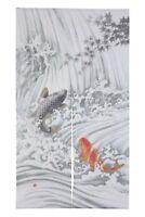 Japanese Noren Curtain Carp Fish Waterfall 85 x 150cm MADE IN JAPAN
