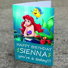 Ariel Birthday Card - Professionally printed and personalised to your needs
