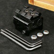Tactical Mini Pistol Red Dot Laser Sight Scope Picatinny Weaver 21mm Rail Mount