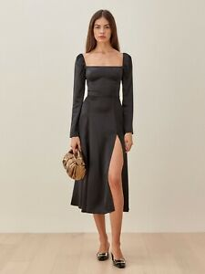 NWT Reformation Black Maryanne Dress Size 6
