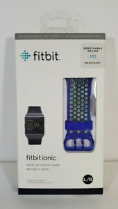 Fitbit Ionic Sport Accessory Replacement Breathable Band Bracelet Blue Large L
