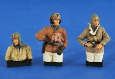 Verlinden 1/35 German Waffen-SS AFV Crew Wet / Cold WWII (3 Half-figures) 2576