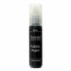 Trimits Water Based Fabric Paint Pens 20ml Bottles Washable All Colours