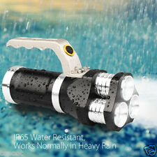 Rechargeable 10000LM 3x XM-L T6 LED 3 Modes 3x 18650 Tactical Flashlight Torch