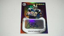 2019 PANINI ELEMENTS ISAAC BRUCE AUTO NEON SIGNS TOP TIER 3 / 5 LOS ANGELES RAMS