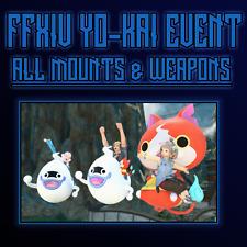 FFXIV YO-KAI FATE GRIND -ALL MOUNTS UNLOCKED- FINAL FANTASY XIV YOKAI - PC ONLY
