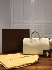 100% AUTH NEW WITH BOX LOUIS VUITTON EPI LEATHER CREAM SPEEDY 35 ONE OF A KIND!