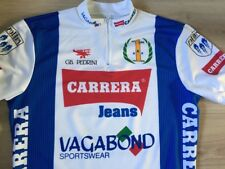 Cycling shirt Jersey Carrera Jeans '90 Vintage Unused Men's 8 Mint Condition