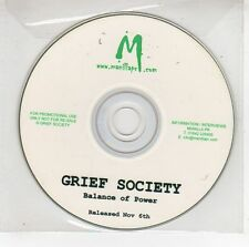 (GG799) Grief Society, Balance of Power - DJ CD