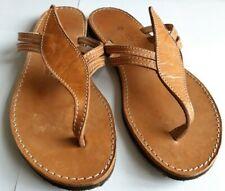 Ladies Genuine Leather Greek Handmade Sandals by Kouros, Brown, UK 6 / EU 39.