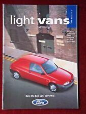Luz De Ford Vans 1996-Folleto De Ventas-Nuevo Fiesta Plus escolta & Courier