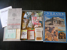CIVILIZATION-THE AVALON HILL-BOARDGAME-BG-COMPLETO-VINTAGE OLD GAME-COMPLETE-ITA