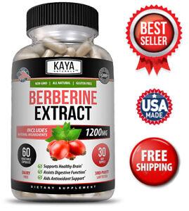 Premium Berberine HCL Extract 1200mg, Healthy Cholesterol, Anti-inflammatory