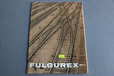 X081 FULGUREX Train catalogueHo1981 16 p 25,5*18,5 F  aiguillage rail code 100