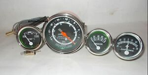 Ford Tractor Tachometer,Temp,Oil, Amp Gauge fit In 8N, 9N , 2N chrome bezel