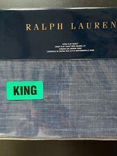 Ralph Lauren Artisan Loft Laight King Flat Sheet Dark Blue