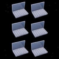 168 Plastic Storage Box Case Clear Organizer Beads Earring Jewelry Container