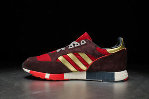 Adidas Originals Boston Super Mens Trainers Red/Gold UK 10 **BRAND NEW**