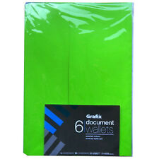 Document Expandable Foolscap Wallets - 6 Pack - Assorted Colours - 350mm x 245mm