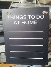 Things To Do Memoboard Kreidetafel Schreibtafel Tafel Wandtafel Chalkboard Black