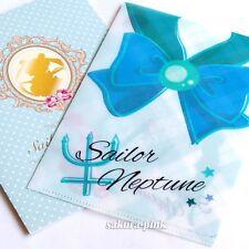 Sailor Neptune SAILOR MOON Mini Clear File Folder Authentic BANDAI Japan