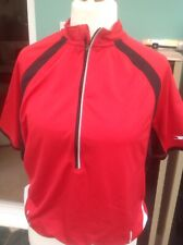 Crane Large Red Cycling Top Short Sleeve Vgc Chest 42/44 Inches