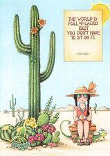 Mary Engelbreit-World Full Of Cactus-Blank Greeting Card w/Envelope-New!