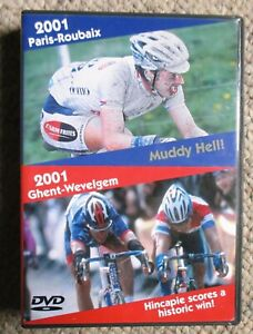 2001 Paris - Roubaix Ghent Wevelgem World Cycling Productions 3 DVD set Clean