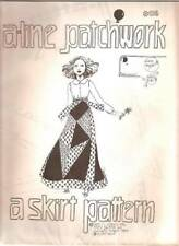 Vintage 70s Sewing Pattern  A-LINE Patchwork Skirt Size 8 10 Little People