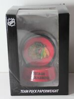 Chicago Blackhawks Team Puck Paperweight NHL NEW