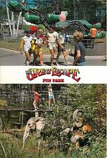 THE GREAT ESCAPE FUN PARK LAKE GEORGE NEW YORK NY POSTCARD 1980'S TEENS KIDS