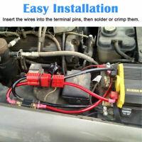 2x 12V Conector terminal batería automotriz cables Conexión conexión rápida 50A