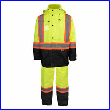 Holmes Workwear HI-VIS Rain Suit, Yellow - Large - NEW