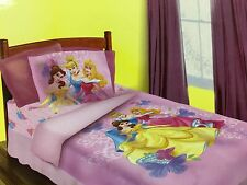 BRAND NEW OFFICIAL DISNEY PRINCESS 4 PIECES TWIN BED COMFORTER SET
