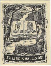 ANONYM: Exlibris Vallis Dei (Abbaye de Val-Diem), 1925