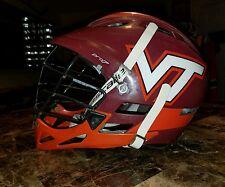 Game used VT lacrosse helmet cascade pro 7 Virginia Tech hokies