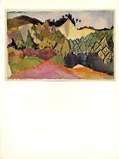 """1967 Vintage PAUL KLEE """"IN THE QUARRY"""" LOVELY LANDSCAPE COLOR offset Lithograph"""