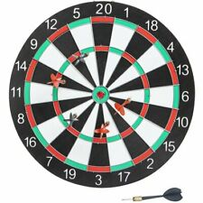 Dartboard Game Set 6 darts 2 Sided Board 15in Indoor Outdoor Game Gift Idea