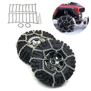 1 Pair Universal Snow Mud Anti-skid Tire Chains for 1/10 RC Traxxas TRX-4 Car79